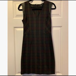 Plaid shift dress for fall (Dynamite)